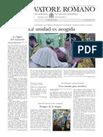 L´OSSERVATORE ROMANO - 05 Diciembre 2014