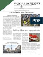 L´OSSERVATORE ROMANO - 12 Diciembre 2014