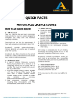 ADEADV1018 - Quick Facts & T&C - Motorcycle Licence[1]