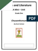 math and literature - chrysanthemum grade 1