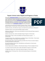 Popular Criminal Justice Degrees and Programs in Florida