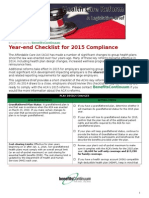 hcr year end checklist for 2015 compliance
