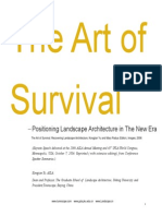 The Art of Survival - Positioning Landscape Architecture in the New Era