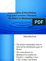 Identification of Distribution Gap and Corrective Measures for Bisleri in Bhubaneswar