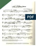 Sem Acompanhamento Friedman, Stanley Poem for a Fallen Hero for Solo Trumpet
