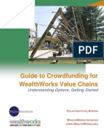 Guide to Crowd Funding for Wealth Works Value Chains