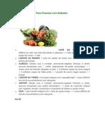 Cardápio Da Dieta Para Pessoas Com Diabetes