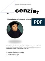 Luther Si Reformele in Germania