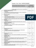 Matematica - Teste 1 - 1º Ano - Matriz 2014 - MUNICÍPIOS - FINAL