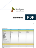 SkyEpub Licenses 2014 Fall