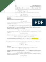 Corrección Examen de Mesa Cálculo III, 17 de diciembre de 2014