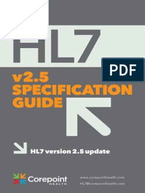 HL7_Ref_Guide2 5 1   Specification (Technical Standard