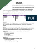 Business Accounting Syllabi