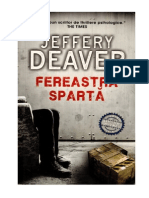 Jeffery Deaver Lincoln Rhyme 8 Fereastra Sparta