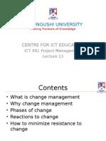 Ict481 15 Change Management