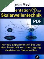 Prof. Konstantin Meyl --  Dokumentation 1 SkalarwellenTechnik (InhaltsVZ)