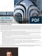 Nu Skin Investor Day Dec 2014 Slide Deck PPT PDF Investor Presentation
