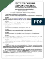 Instruções e Normas Para Fazer Este Curso Teológico 2014