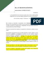 Jacques Derrida y El Deconstruccionismo