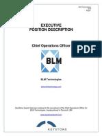 Executive Position Profile BLM COO