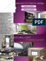 Light as Element of interior design