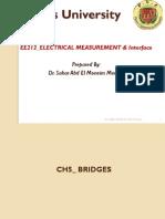 Lecture 5 Electrical Bridges