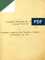 Catografia Basarabiei Din 1817.Tinutul Hotinului