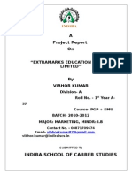Project Report of Extramarks