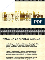 History of Interior Designing
