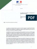 Lettre de Philippe Martin levant le moratoire de Delphine Batho