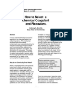 How to Select a Chemical Coagulant and Flocculant