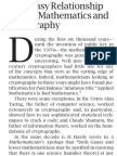 The Uneasy Relationship Between Mathematics and Cryptography