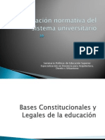 La Regulación Normativa Del Sistema Universitario Argentino