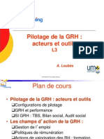 Pilotage GRH 2013
