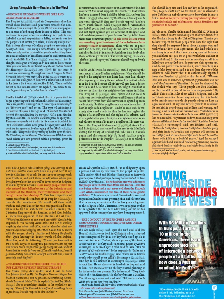 Living With Non Muslims Muhammad Prophets And Messengers In Islam