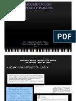 Abdomen y Apendicitis Aguda - Dr. Cánovas