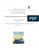 Gillian Pezdzisai Chigumira 2012 Research Report CSID the Impacts of Program and Project Food Aid on Third World Economies.