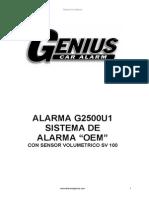 Alarma Genius OEM G2500U1