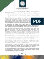 07-11-2013 El Gobernador Guillermo Padrés en compañía del Secretario de Energía, Pedro Joaquín Coldwell, dio arranque oficial a la construcción de Gasoducto Sonora. B111330