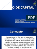 1. Costo de Capital