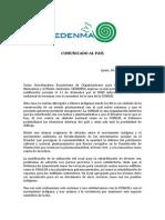 Carta de Solidaridad de CEDENMA