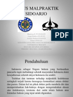 Kasus malpraktik Sidoarjo