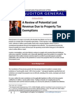Review of Potential Lost Revenue Due to Property Tax Exemptions