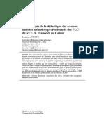 Les concepts de la didactique des sciences dans les mémoires professionnels des PLC1 de SVT2 en France et au Gabon