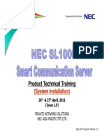 SL1000 Training (System Installation)