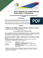 Reglamento General de Competencias Escolares y Colegiales 2012