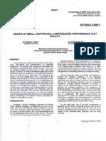 Design of Small Centrifugal Compressors Performance Test Faciltity