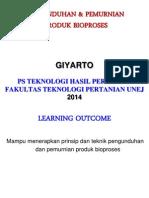 Kuliah 5 Pengunduhan Dan Pemurnian Produk Fermentasi 2014 OK