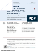 2014 AHA/ACC Guideline for the Management of Patients With Non–ST-Elevation Acute Coronary Syndromes