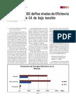 NUEVA NORMA IEC - MOTORES ELECTRICOS
